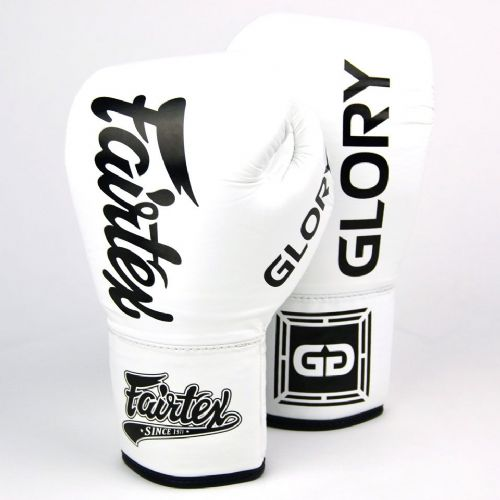 Fairtex X Glory Fight Gloves - White (10oz)